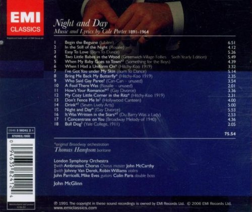 Night and Day: Thomas Hampson Sings Cole Porter by EMI Classics