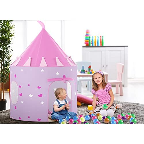 497b81ba2e51 Kids Play Tent With Light Princess Castle Children Playhouse BONUS Carrying  Case   Pop Up Portable Glow in the Dark ...