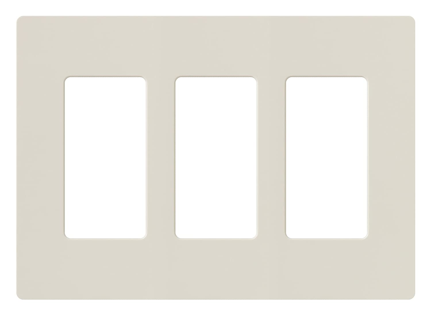 Lutron CW-3-LA Claro 3-Gang Wallplate, Light Almond - Switch Plates ...