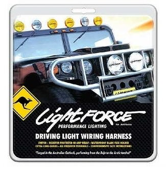 Lightforce LFDLH Complete Wiring Harness with Switch 12V Relay and Terminal Driving Light