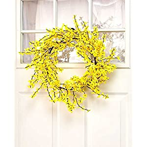 "Rustic Porch Collection 26"" Forsythia Wreath 65"