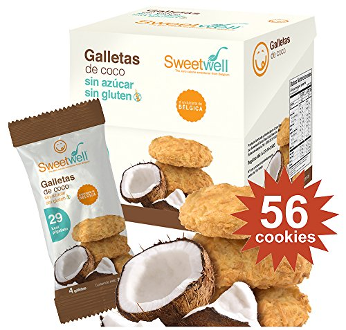 - Sweetwell Sugar Free Cookies, Coconut - 56 Units (14 Packs of 4 Units)