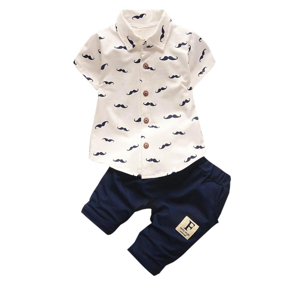 Kinlene Toddler Bambini Neonati Barbe Magliette Tops + Pantaloncini Pantaloni Outfit Clothes Set