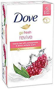 Dove go fresh Beauty Bar, Pomegranate and Lemon Verbena 4 oz, 6 Bar