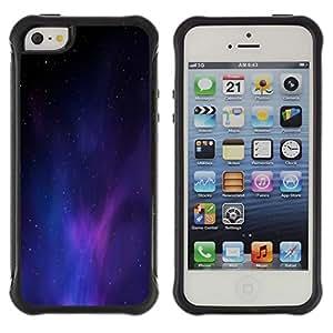 Suave TPU GEL Carcasa Funda Silicona Blando Estuche Caso de protección (para) Apple Iphone 5 / 5S / CECELL Phone case / / Universe Purple Blue Light Galaxy Dust /