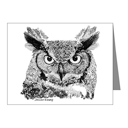 (CafePress - Horned Owl Note Cards (Pk of 20) - Blank Note Cards (Pack of 20) Matte)