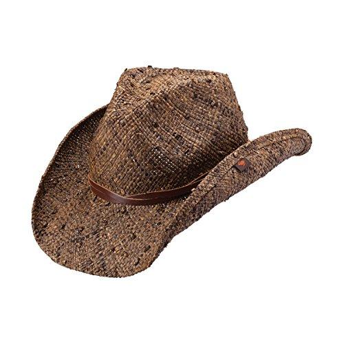 2e668894da1 Peter Grimm Ltd Unisex Jareth Raffia Straw Cowboy Hat Dark Brown One Size -  Buy Online in Oman.