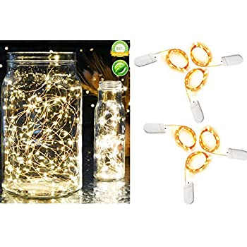 Amazon Com Cool White Fairy Lights Battery Operated 9ft
