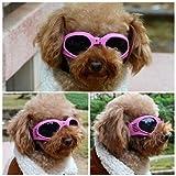 Pet Leso Doggles Goggles Stylish Doggie Puppy Sunglasses Windproof - Pink