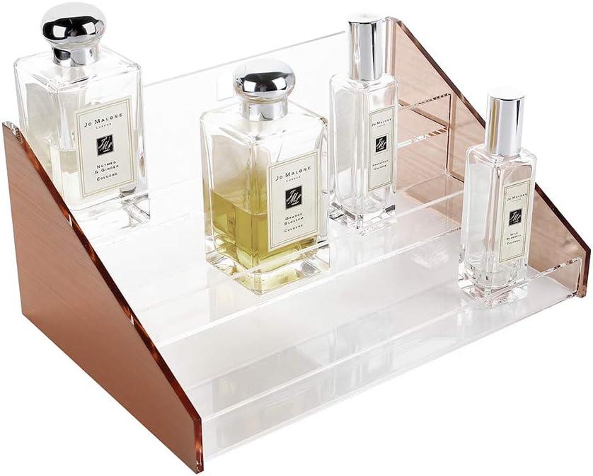 Amazon Com Moosy Life Ml31 Rose Gold Perfume Organizer Holder Display Stand 3 Tiers Moonlight Series Home Kitchen