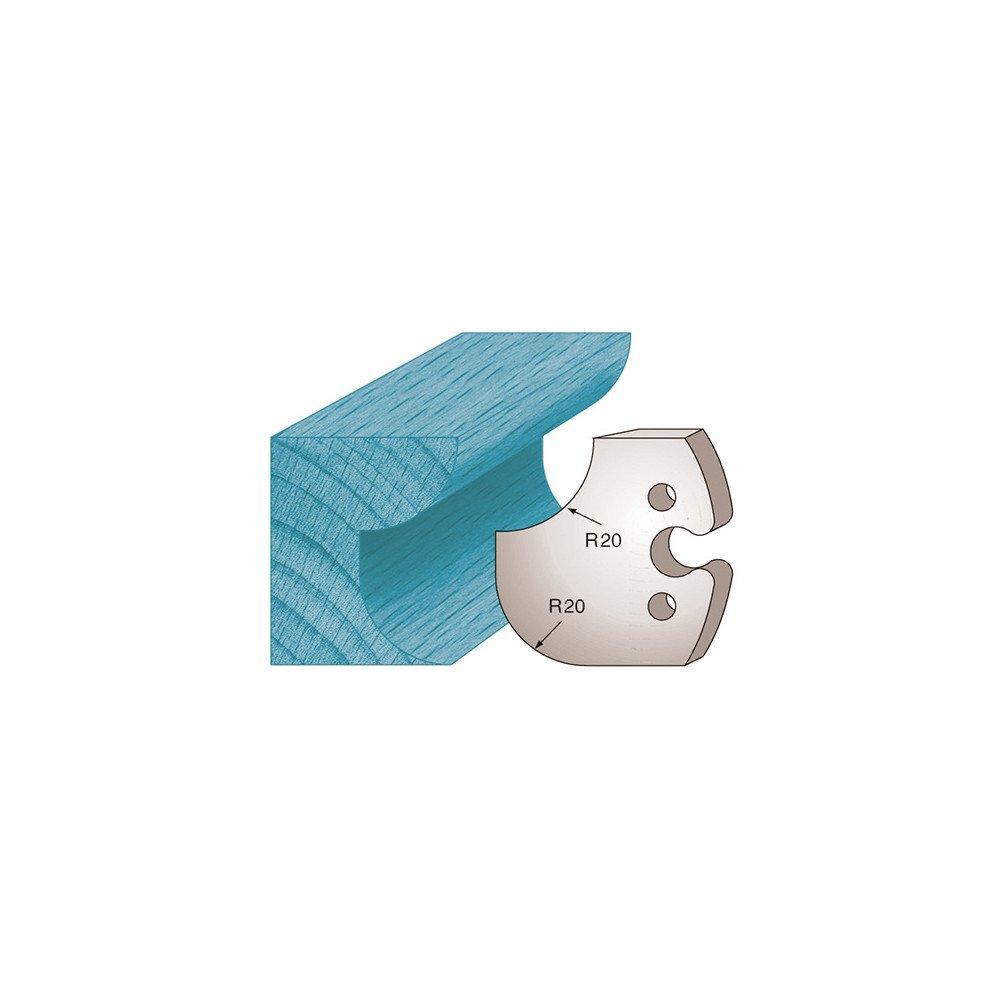 Diamwood Platinum - Jeu de 2 fers profilés Ht. 50 x 5, 5 mm congé et quart de rond M238 pour porte-outils de toupie - Diamwood Platinum 5 mm congé et quart de rond M238 pour porte-outils de toupie - Diamwood Platinum