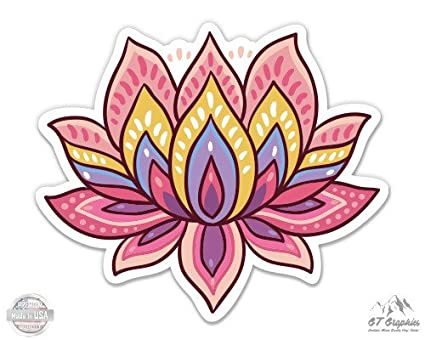 Amazon Lotus Flower Cute Om Yoga Meditation Vinyl Sticker