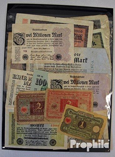 alemán Imperio 15 diferentes billetes de Weimar república (billetes para los coleccionistas) Prophila Collection