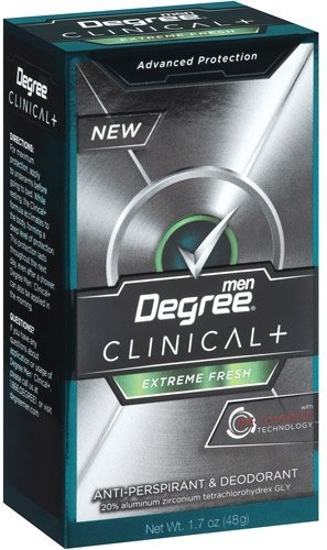 Degree Men Clinical+ Antiperspirant & Deodorant, Extreme Fresh 1.7 oz (Pack of 2) (Degree Clinical Protection Men)