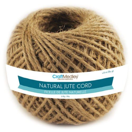 Multicraft Imports Craft Medley FL102 3-Ply Natural Jute 80G Cord