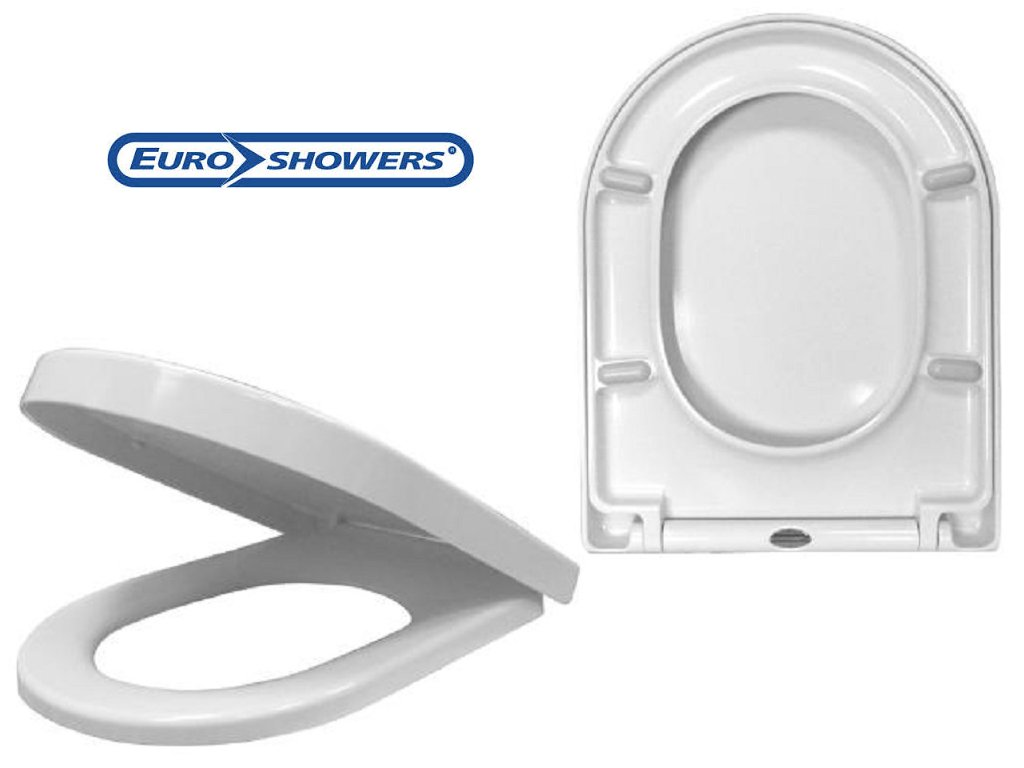 toilet seat manufacturers uk. EuroShowers ONE Series Long D Shaped Toilet Seat  Soft Close Quick Release Amazon co uk DIY Tools