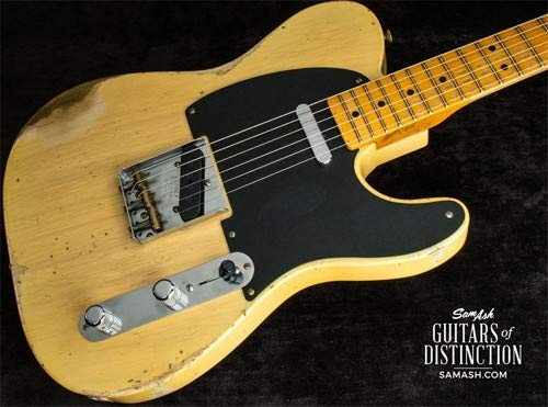 Fender Custom Shop 1951 Nocaster Heavy Relic Electric Guitar Faded Blonde (SN:R97137)