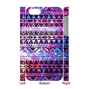 Cool Painting Aztec Tribal Pattern Personalized 3D Cover Case for Iphone 4,4S,customized phone case case538074 by icecream design