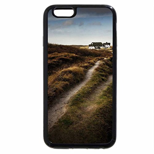iPhone 6S / iPhone 6 Case (Black) dirt road to a house in the dunes