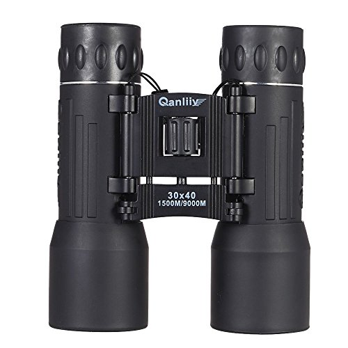 30 * 40 Pocket Dual Focus Zoom Binocular Telescope 8.0 Degree Wide-angle BAK4 Prism Green Film View 1500-9000m for Field Travel