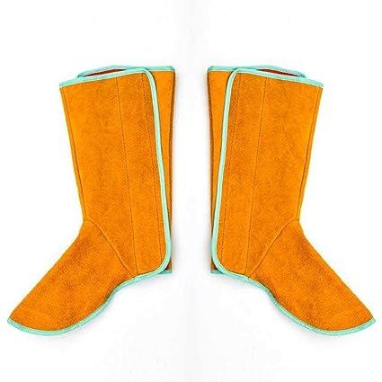 KOBWA - Funda de Piel de Vaca Resistente al Calor y abrasión para Zapatos de Soldadura
