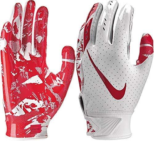 Nike Youth Vapor Jet 5.0 Receiver Gloves 2018 (White/University Red, Small)
