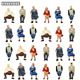 #7: P4804 24 pcs All Seated Figures O scale 1:43 Painted People Model Railway NEW