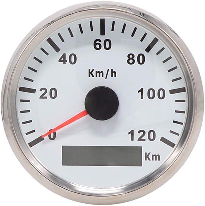 Eling Gps Tacho Kilometerzähler 120km H Für Auto Marine Utv 85mm 12v 24v Mit Hintergrundbeleuchtung Auto