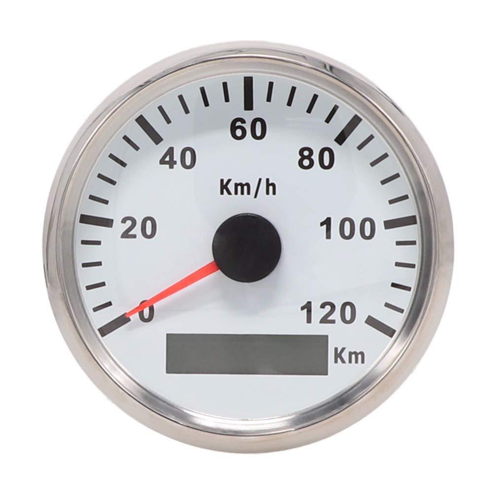 GPS velocímetro odómetro 120 km/h para Auto UTV Marino 85 mm 12 V/24 V con retroiluminación: Amazon.es: Coche y moto