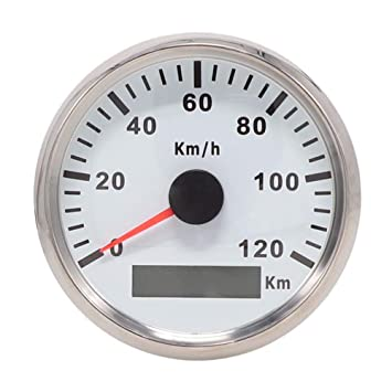 GPS velocímetro odómetro 120 km/h para Auto UTV Marino 85 mm 12 V/