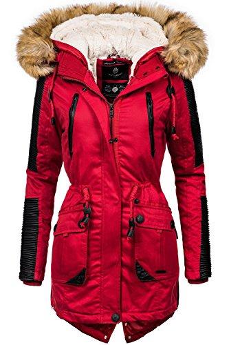 e92a6dac039b Navahoo Damen Jacke Winterjacke Winterparka Dunja (vegan hergestellt) 3  Farben XS-XXL Rot
