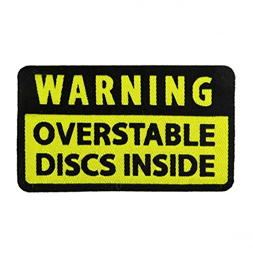 Warning: Overstable Discs Inside Iron-On Disc Golf Patch