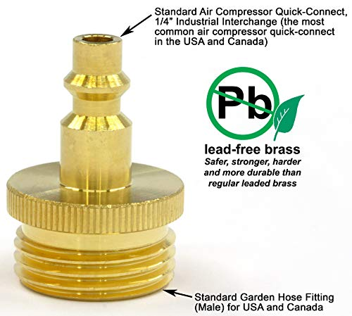 Winterize-RV-Boat-Motorhome-Camper-and-Travel-Trailer-Air-Compressor-Quick-connect-Plug-To-Male-Garden-Faucet-Blow-Out-Adapter-Fitting-Solid-Lead-Free-Brass