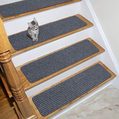 Ottomanson Scrape Rib Stair Tread, 14 Pack, Grey