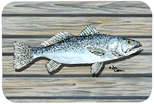 20 by 30 Carolines Treasures 8494-CMTFish Speckled Trout Kitchen or Bath Mat Multicolor