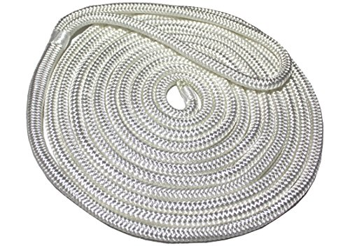 Starr Lines Premium Double-Braided Nylon Dock line (White, 3/8-Inch X 15-Feet)