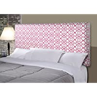 MJL Furniture Designs Alice Padded Bedroom Headboard Contemporary Styled Bedroom Décor, Noah Series Headboard, Blush Finish, Queen Sized, USA Made