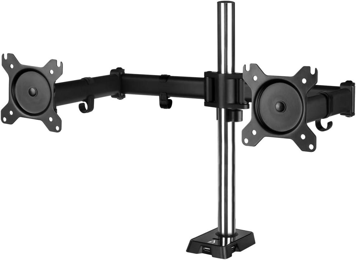 ARCTIC Z2 Gen 3 – Dual Monitor Arm for up to 34 35 Ultrawide, up to 15 kg 33 lbs per Arm, USB Hub, Easy Monitor Adjustment, Flexible – Matt black