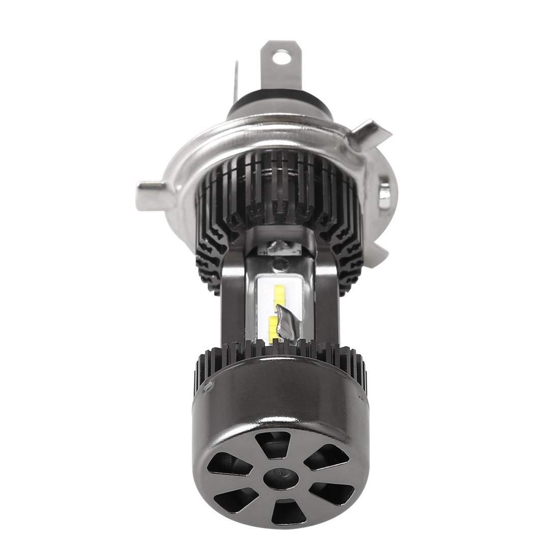 SUPAREE H4 LED Ampoule de Phare 12V-24V 6500K 30W IP 68 6400 LM pour Moto