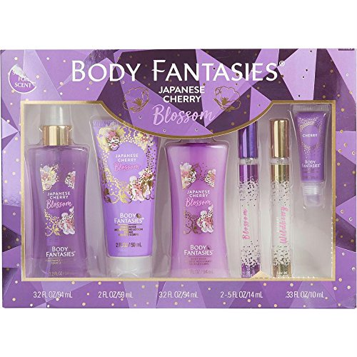 Body Fantasies Japanese Cherry Blossom By Body Fantasies For Women Body Spray 3.2 Oz & Body Cream 2 Oz & Body Wash 3.2 O