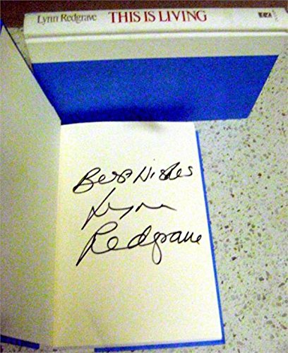 Lynn Redgrave autographed book hard cover (This is Living Actress) - MLB Autographed Miscellaneous Items - Cover Lynn