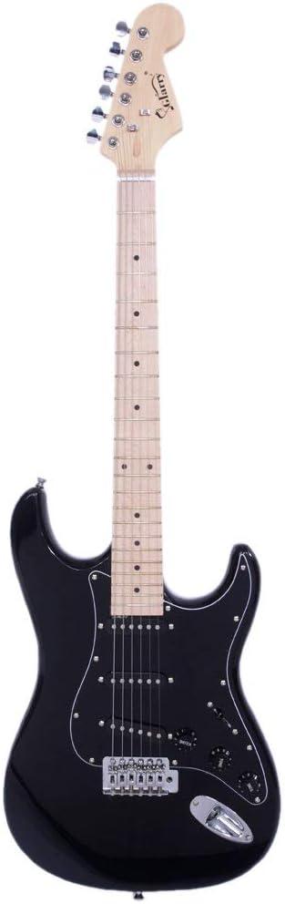 New Burning Fire Style Stylish Electric Guitar Kit Sky Blue//Sunset Color//Dark Blue//Black Black