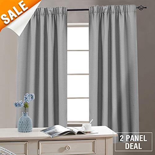 - Lazzzy Grey Kitchen Curtains for Small Window 72