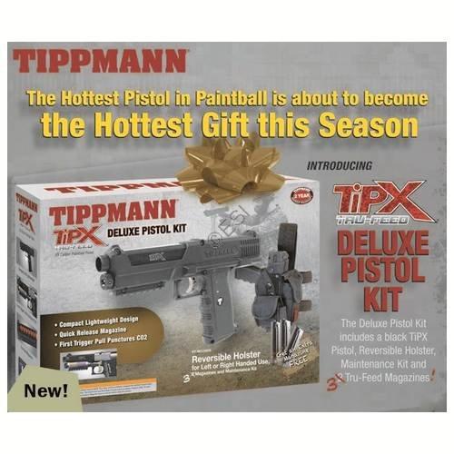 Tippmann TiPX .68 Caliber Deluxe Paintball Pistol Kit, (Tpx Pistol)