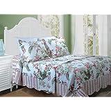 Greenland Home Fashions Secret Garden King 3-Piece Bedspread Set