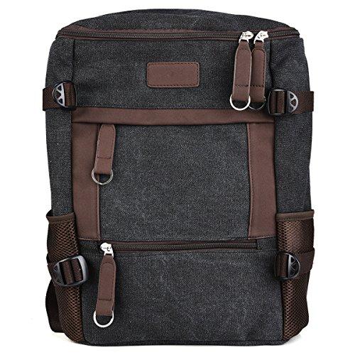 """Kroo Vintage College Bag Canvas Backpack for 13"""" & 15"""" Lapto"""