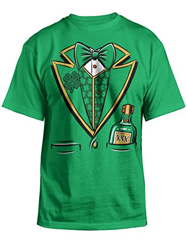 St Paddys Day Leprechaun Tuxedo Costume Adult T-shirt XXL (Cheers And Beers Costume)