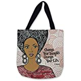 Shades of Color Woven Tote Bag, Change Your Thoughts, 17 x 17 inches (WTB011)
