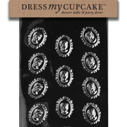Dress My Cupcake Chocolate Candy Mold, Cameo in Lace