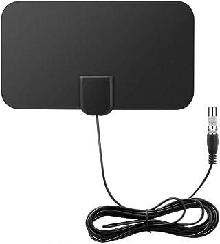 DollaTek Mini Antena de TV Digital para Interiores Amplificador de señal de Rango de 50 Millas F-TV HDTV Compatible 4K